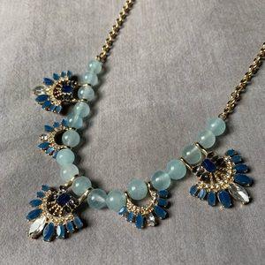 LOFT Blue & Gold Statement Necklace